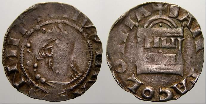 Pfennig 1027-1036 Köln, Erzbistum Pilgrim und Kaiser Konrad II 1027-1036. Kl. Prägeschwäche. Sehr schön mit schöner Patina