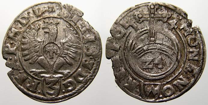 Dreipölker 1 1614 Polen Sigismund III. 1587-1632. Selten. Schrötlingsfehler, sehr schön