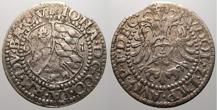 2 Kreuzer 1591 Pfalz-Zweibrücken-Veldenz Johann der Ältere 1569-1604. Kl. Zainende. Sehr schön+