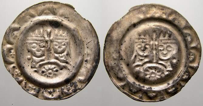 Brakteat 1190-1197 Donauwörth, königliche Münzstätte Kaiser Heinrich VI. 1190-1197. Vorzüglich