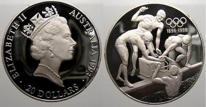 20 Dollars 1993 Australien Elizabeth II. seit 1952. Polierte Platte