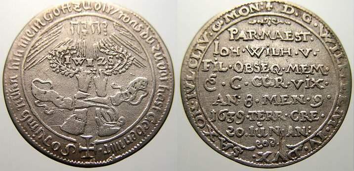 Groschen 1639 Sachsen-Alt-Weimar Wilhelm und seine vier Brüder 1626-1640. Sehr schön+