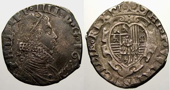1622 Italien-Neapel Philipp IV. von Spanien 1621-1665. Sehr schön mit schöner Patina