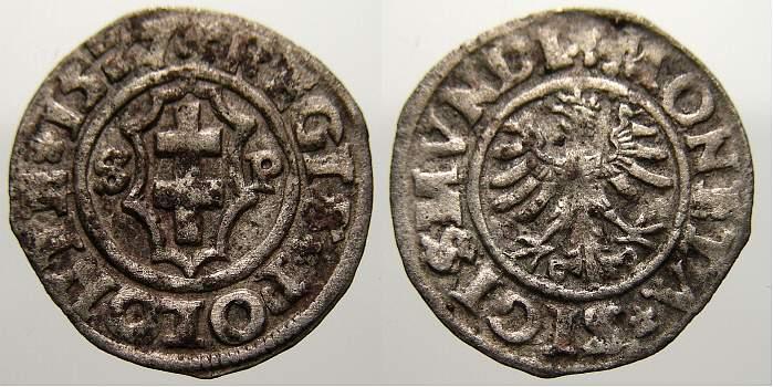 Kron-Ternare 1527 Polen Sigismund I. 1506-1548. Selten. Sehr schön