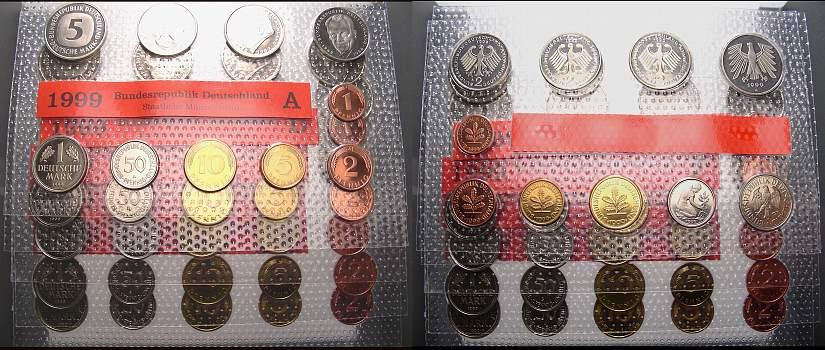 Kursmünzensatz 1999 Bundesrepublik Deutschland Stempelglanz
