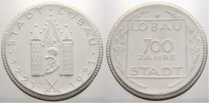 Porzellanmedaille 1921 Porzellan Porzellanmedaillen. Vorzüglich
