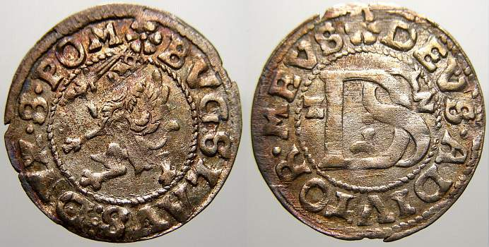 Doppelschilling 1622 R Pommern-Stettin Bogislaw XIV. 1620-1625. Sehr schön-vorzüglich mit Prägeglanz und schöner Patina