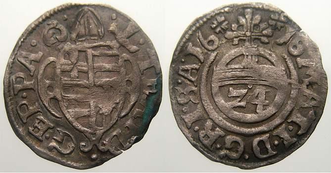 Kipper-Reichsgroschen (1/24 Taler) 1618 Paderborn, Bistum Theodor von Fürstenberg 1585-1618. Sehr schön
