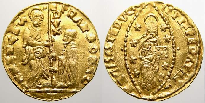 Zecchino (Gold) 1545-1553 Italien-Venedig Francesco Donato 1545-1553. Sehr schön+