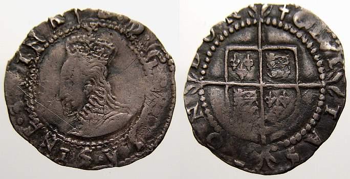 Penny 1558-1603 Großbritannien Elisabeth I. 1558-1603. Sehr schön