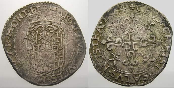Bianco 1564 Italien-Casale Guglielmo Gonzaga, reggenza della madre Margherita 1550-1566. Sehr schön