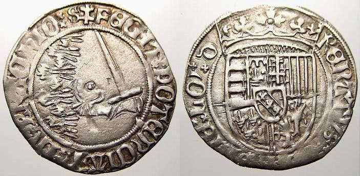 Groschen 1473-1508 Frankreich-Lothringen René II. von Vaudemont-Anjou 1473-1508. Kl. Prägeschwäche. Sehr schön+