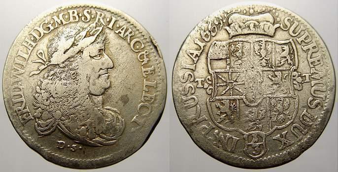 13 Taler 1669 Ds Brandenburg Preußen Friedrich Wilhelm Der Große