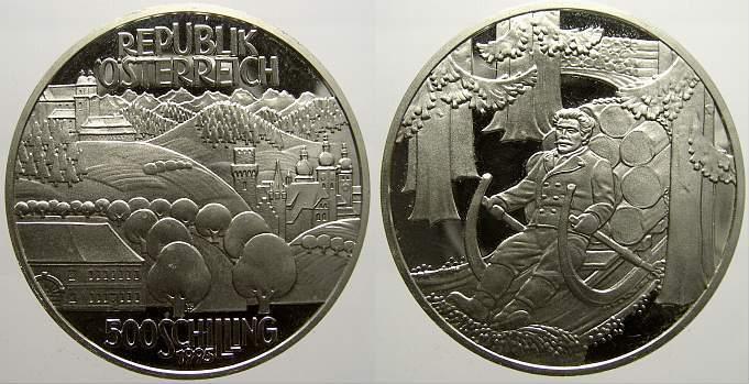 500 Schilling 1995 Österreich Republik Österreich seit 1945 1945Heute. Polierte Platte