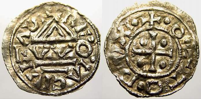 Denar 976-982 n. Chr. Regensburg, herzogliche Münzstätte Otto 976-982. Sehr schön+