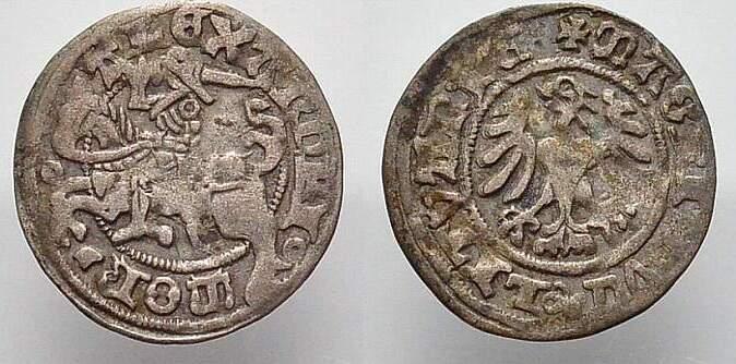 Halbgroschen 1501-1506 Polen-Litauen Alexander 1501-1506. Sehr schön