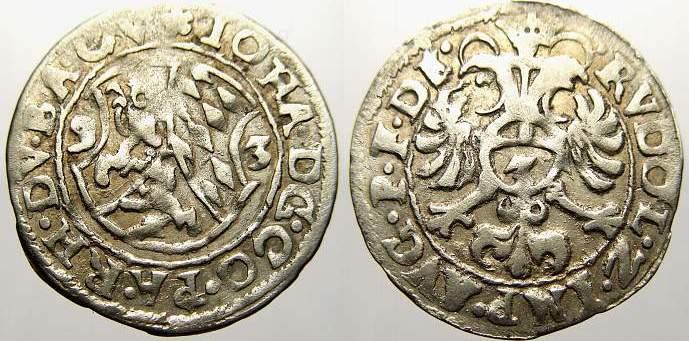 3 Kreuzer (Groschen) 1593 Pfalz-Zweibrücken Johann I. 1569-1604. Sehr schön+