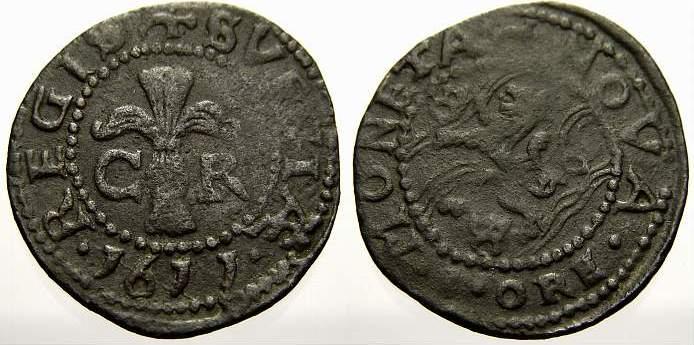Öre 1 1611 Schweden Karl IX 1604-1611. Sehr schön mit Patina