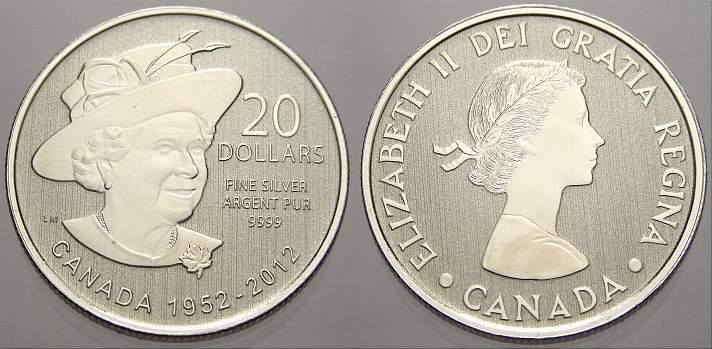 20 Dollars 2012 Kanada Elizabeth II. seit 1952. Stempelglanz