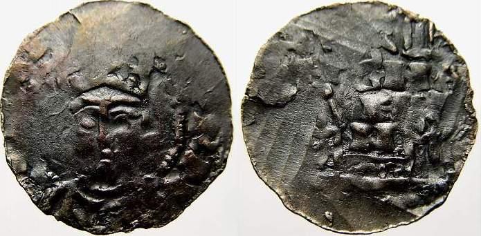 Denar 1024-1039 Straßburg, königliche Münzstätte Konrad II, 1024-1039. Kl. Prägeschwäche. Sehr schön