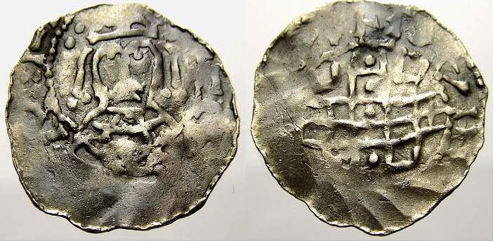 Denar 1084-1106 Regensburg, königliche Münzstätte Heinrich IV., als Kaiser, 1084-1106. Selten. Sehr schön