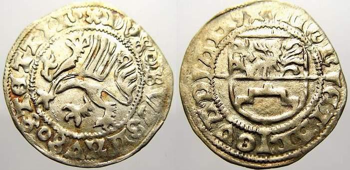 Schilling 1494 Pommern-Stettin Bogislaw X. 1474-1523. Fast vorzüglich mit Prägeglanz!