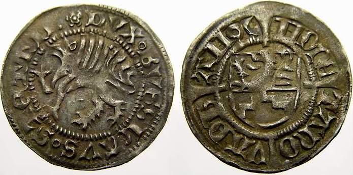 Schilling 1496 Pommern-Stettin Bogislaw X. 1474-1523. Von größter Seltenheit. Vorzüglich mit schöner Patina