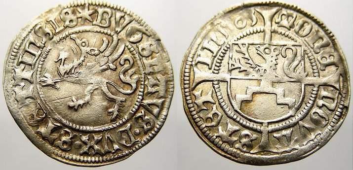 Schilling 1503 Pommern-Stettin Bogislaw X. 1474-1523. Vorzüglich mit Prägeglanz