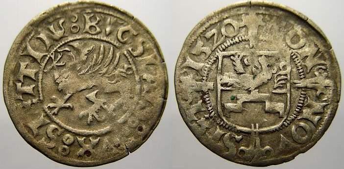 Schilling 1520 Pommern-Stettin Bogislaw X. 1474-1523. Sehr schön