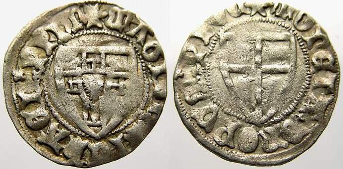 Schilling 1414-1422 Deutscher Orden Michael Kuchmeister von Sternberg 1414-1422. Sehr selten. Sehr schön