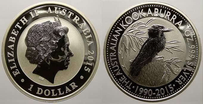 1 Dollar 2015 Australien Elizabeth II. seit 1952. Stempelglanz