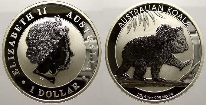 1 Dollar 2016 Australien Elizabeth II. seit 1952. Stempelglanz