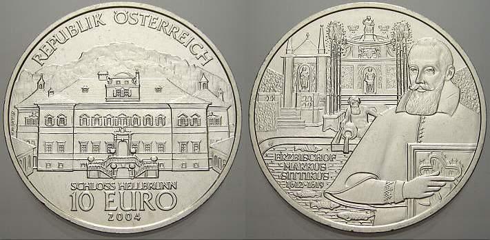 10 Euro 2004 Österreich Republik Österreich seit 1945. Stempelglanz