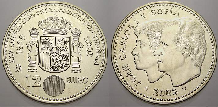 12 Euro 2002 Spanien Stempelglanz