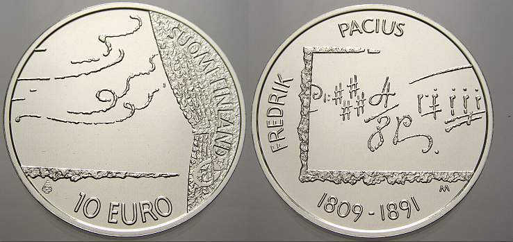10 Euro 2009 Finnland Stempelglanz