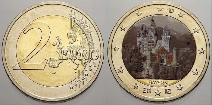 2 Euro (Farbe, coloriert) 2012 F Deutschland unzirkuliert
