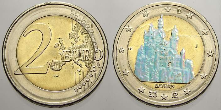 2 Euro Hologramm 2012 J Deutschland Spl Ma Shops