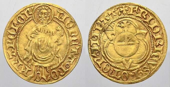 Goldgulden 1440 K Frankfurt, kaiserliche und königliche Münzstätte Friedrich III. von Habsburg 1440 König, 1451-1493 Kaiser. Attraktives Exemplar. Sehr schön+