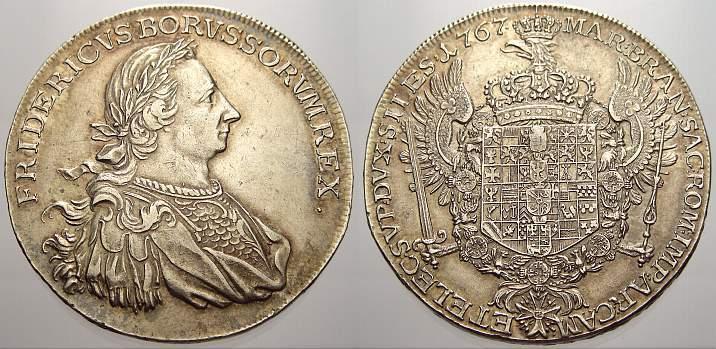 Levantetaler 1767 Brandenburg-Preußen Friedrich II. 1740-1786. Fast vorzüglich