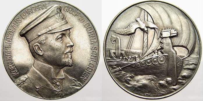 Silbermedaille 1917 Erster Weltkrieg Militärische Ereignisse Stempelglanz mit schöner Patina