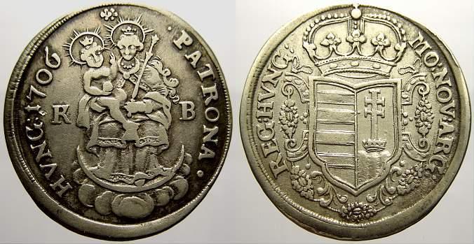 1/2 Taler 1706 K Haus Habsburg Ungarische Malkontenten 1703-1707. Sehr schön-vorzüglich
