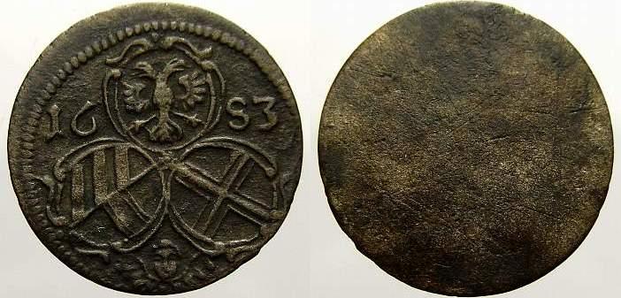 2 Pfennig 1683 Haus Habsburg Leopold I. 1658-1705. Sehr schön-vorzüglich