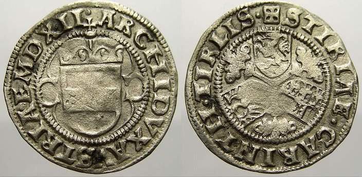 1/2 Batzen 1512 Haus Habsburg Maximilian I. 1490-1519. Sehr schön
