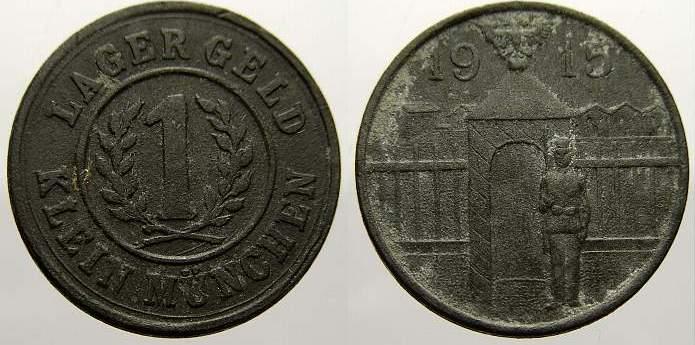 1 Heller 1915 Notgeld Klein München 1915. Sehr schön