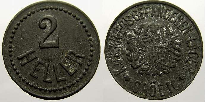 2 Heller Notgeld Gröding 1915. Sehr schön+