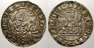 pfennig 1308-1313 Aachen Heinrich von Luxemburg 1308-1313. Äußerst selten. Voll lesbares sehr schön