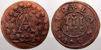 Mecklenburg-Güstrow Cu 3 Pfennig Gustav Adolf 1636-1695.