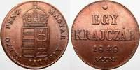 Haus Habsburg Egy Krajczar Prägungen der Revolutionsjahre 1848-1849.
