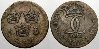 Schweden 5 Öre 1 Karl XI. 1660-1697.