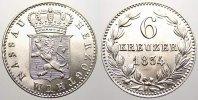 Nassau 6 Kreuzer Wilhelm 1816-1839.